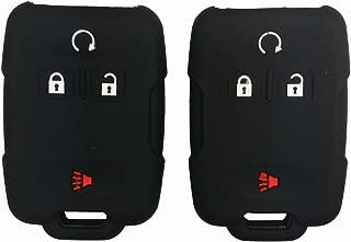 Coolbestda 2Pcs Rubber Smart Key Fob Remote Cover Case Protector Wallet Keyless Jacket for Chevrolet Silverado Colorado M3N32337100 13577770 13577771 GMC Sierra Yukon Cadillac