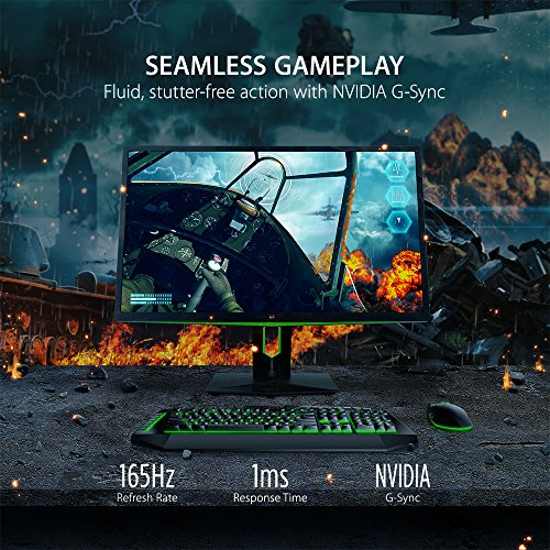 ViewSonic XG2760 27 Inch 1440p 165Hz 1ms Gsync Gaming Monitor with Eye Care Advanced Ergonomics HDMI and DP for Esports, Black