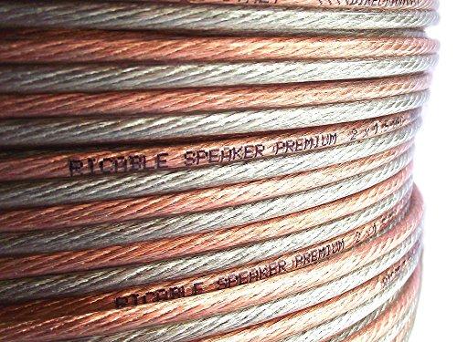 Ricable Custom 1.5/10-10 Metri 2 x 1,5 mmq Cavo Audio OFC di Potenza x Casse