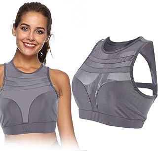 Women Anti-impact Bra, High Impact Fitness Backless Gym Yoga Sports Wireless Bra Athletic Activewear (M)