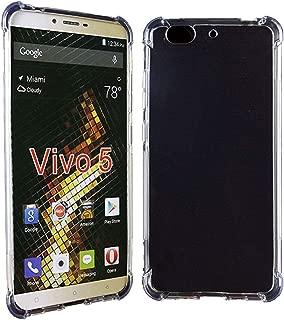 BLU VIVO 5 Case, SKTGSLAMY Soft TPU Crystal Transparent Anti-Scratch Shock Absorption Cover Case for BLU VIVO 5 (Clear)