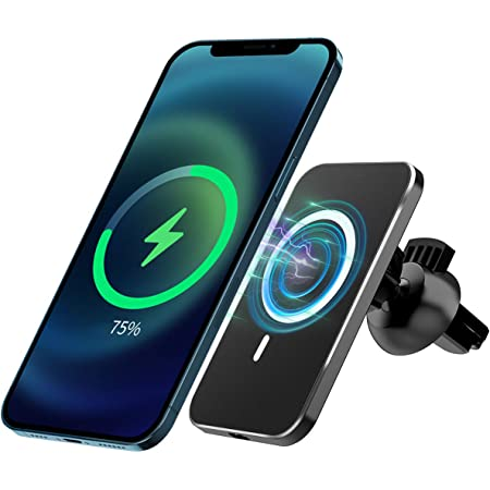 15w Magnetic Wireless Car Charger Holder For Iphone 12 Pro Max Mini Magsafe Mobile Phone Mount For Fast Charging With Airvent Mount Black Baumarkt