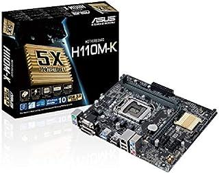 ASUS H110M-K Scheda Madre, (socket 1151, ATX, Intel H110, 2x memoria DDR4, USB 3.0, 4 porte SATA 6Gb / s)