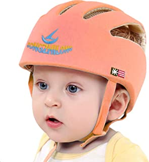 Huifen Baby Children Infant Toddler Adjustable Safety Helmet Headguard Protective Harnesses Cap Blue, Providing Safer Environment When Learning to Crawl Walk Playing Baby Infant Orange Hat (Orange)