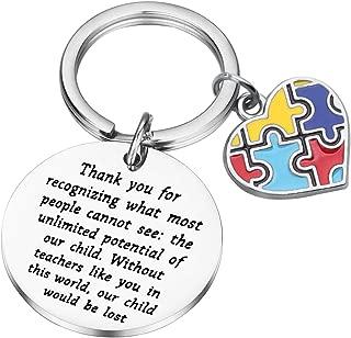 ENSIANTH Autism Teacher Keychain Autism Teacher Gift Autism Jewelry Gift Autism Teacher Appreciation Gift