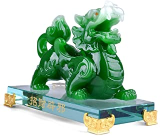 BOYULL Feng Shui Green Pi Yao/Pi Xiu Wealth Porsperity Statue,Feng Shui Decor