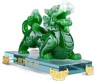Wenmily Feng Shui Green Pi Yao/Pi Xiu Wealth Porsperity Statue,Feng Shui Decor