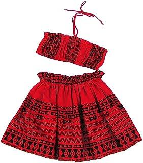 (ムームーママ)MuuMuuMama ケイキ シングルパウ&チューブトップ セット タパ柄 赤