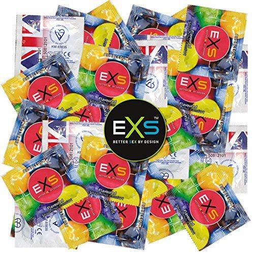 EXS Vorratspackung - Bubblegum Rap 100 Kondome mit Kaugummi-Geschmack - Kondomvorrat, Großpackung für Vergnügen mit Geschmack
