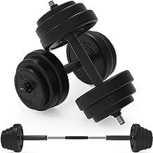 Body Revolution Halterset - verstelbare halters thuis gym gewicht set met lange link accessoires - verschillende gewichten...