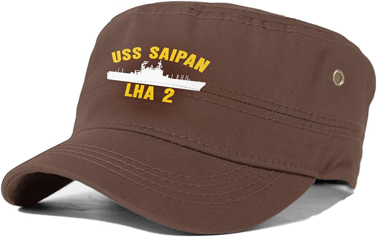 USS Saipan LHA-2 Opening large release sale Unisex Dealing full price reduction Adult Flat Cap Military Sun Top
