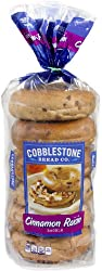 Cobblestone Bread Company Cinnamon Raisin Bagels, 6 ct