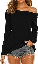 Halife Women's Long Sleeve/Short Sleeve Boat Neck Off Shoulder Blouse Tops