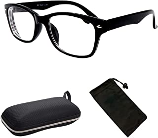 Nearsighted Classic Oval Clear Scratch Resistant Lenses (Not Reading Glasses)