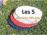 5 disques pads diamètre 432 mm monobrosse ou autolaveuse (rouge)