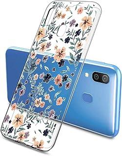Oihxse beschermhoes voor Samsung Galaxy A8S, ultradun, transparant, zachte TPU-gel, silicone, schattig motief, schokbesten...