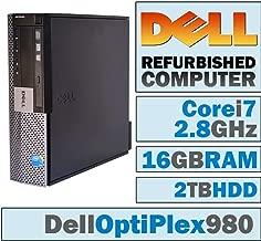 Dell OptiPlex 980 SFF/Core i7-860 Quad @ 2.8 GHz/DVI Graphics Card/16GB DDR3/2TB HDD/DVD-RW/WINDOWS 10 PRO 64 BIT (Certified Refurbished)