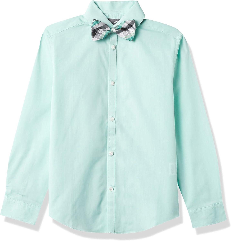 Van Heusen Boys' Long Sleeve Dress Shirt and Bow Tie Set