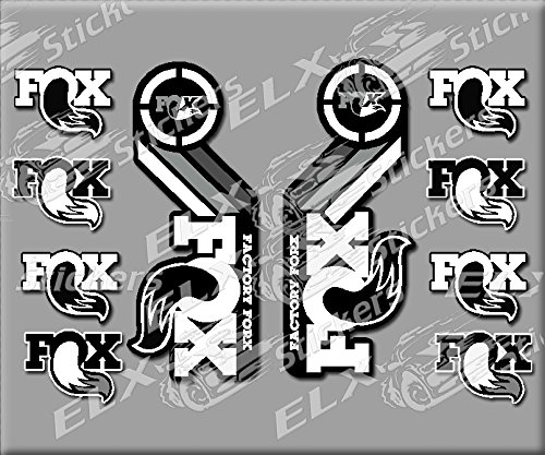 Ecoshirt NN-M8I2-8PMO Fork Fox 2015 Heritage R231 Stickers Autocollants Autocollants Blanc