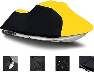 Black/Yellow Super Heavy-Duty Cover for Polaris Virage 2000 2001 2003 2004 Jet Ski Trailerable Cover