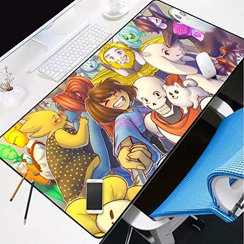 Gaming Mauspad Mauspad Xxl, Gaming Mouse Mat Schreibtischunterlage, Büro-Schreibtisch-Matte, Drachen und animierte Charaktere Comfortable Gaming Mouse Pad mit Anti-Rutsch Gummiunterseite, Laptop-Schre