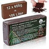 your GEAR feinkörnige Kokoserde 108 L - 12x650g gepresste Blumenerde nachhaltige Aussaaterde aus Kokosfasern 100% Bio ungedüngt torffrei