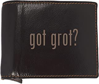 got grot? - Soft Cowhide Genuine Engraved Bifold Leather Wallet