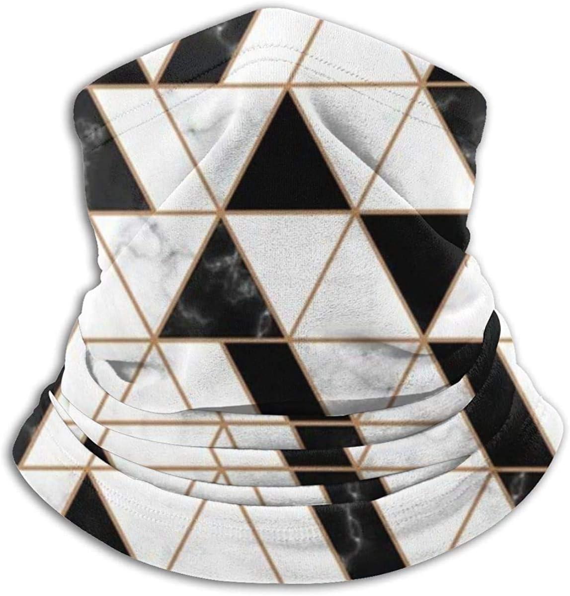 Lastbest Marble White Black Neck Warmer Multifunction Scarf Hat Neck Gaiter Neck Cap Bala Windproof Neck Heating Wrap Outdoor Sports