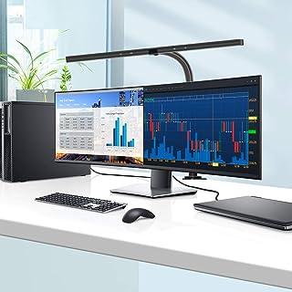 چراغ میز تحریر LED ، چراغ های میز اداری EppieBasic 24 وات با گیره معماری میز کار نور نوار 31.5 اینچی فوق العاده عریض با میز دوخت قابل انعطاف Gooseneck چراغ میز - 4 حالت رنگی و 5 سطح روشنایی