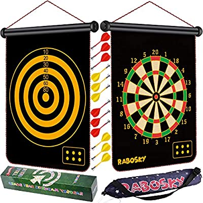 Rabosky Dart Game Toy for Boys Age 6 7 8 9 10 11 12 Year Old, Boys Birthday Gifts Age 6 to 12, Safe Magnetic Dart Board for Kids, 12PCS Magnetic Darts