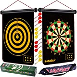 Rabosky Magnetic Dart Board for Kids, Safe Dart Game Toy for Age 6 7 8 9 Year Old Boys, 12PCS Magnetic Darts