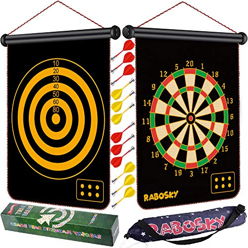 Rabosky Magnetic Dart Board for Kids, 12pcs Magnetic Darts, Toys for Age 5 6 7 8 9 10 Year Old Boys, Best Gift Ideas for Kids