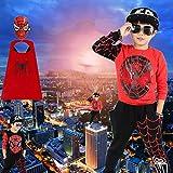 ZGCP Costume Halloween Enfants Spiderman Vêtements Costume Altman Batman Rouge Noir 140 Codes