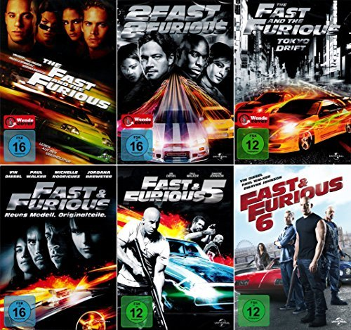The Fast and the Furious 1 - 6 Collection [6er DVD-Set] Keine Box