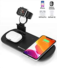 Newdery 3 in 1 Wireless Charging Stand, Wireless Charger for Apple Watch, Airpods Pro/2, Qi Cableless Charging Dock Triple Station for iPhone 11/11 Pro Max/XS/XR/SE/7/8 Plus,(NO QC 3.0 Adapter)