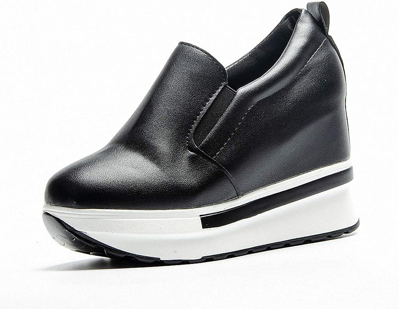 York Zhu Women Fashion Sneaker,Slip On Platform Loafers High Heel Wedge Walking Sneakers
