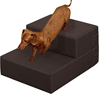 ottostyle.jp ドッグステップ PVCレザー Mサイズ 40cm×44cm×15cm (ブラウン) 抗菌・防臭 愛犬のソファやベッドの昇り降りに!ドッグステップで安心・安全!
