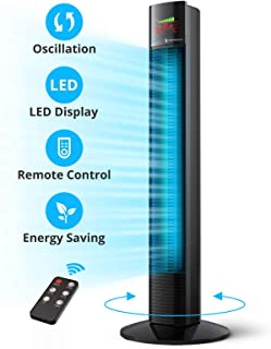 """Tower Fan, Taotronics 36"""" Oscillating Tower Fan with Remote, 9 Modes, Large LED.."""