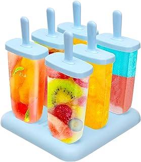 SUFUS Moule à Glace/Ice Pop Mold, Moules Esquimaux Réutilisable Fabricants de Popsicles realisé en Plastique de qualité su...