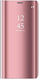 Galaxy Note 8 Case, Alsoar Galaxy Note 8 Cover Mirror Clear View Window Flip Case Slim Multi-Function Mirror case S-View Stand flip Folio Full Body Protection Cover Samsung Galaxy Note 8 (Rose Gold)