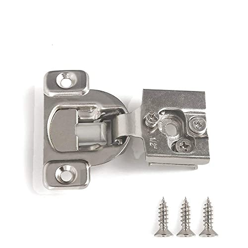 "1-1//2/"" Cabinet Door Hardware Compact Overlay Hinges Nickel Plated"