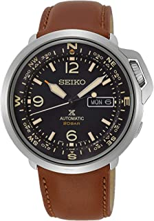 Prospex Automatic 20 Bar Land Series Compass Brown Leather Sports Watch SRPD31K1