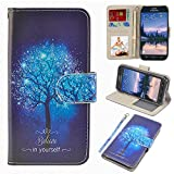 UrSpeedtekLive S6 Active Case, Galaxy S6 Active Wallet Case, Premium PU Leather Wristlet Flip Case Cover with Card Slots & Stand for Samsung Galaxy S6 Active, Believe in Yourself (NOT for Galaxy S6)