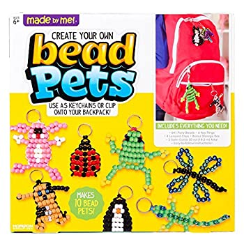 Made By Me Create Your Own Bead Pets by Horizon Group Usa Includes Over 600 Pony Beads 6 Key Rings Storage Box & Much More