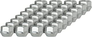 DPAccessories D2228-2308/32 32 Silver 14x1.5 Open End Bulge Acorn Lug Nuts - Cone Seat - 22mm Hex Wheel Lug Nut