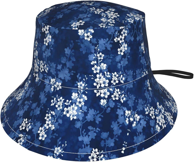 Sakura Blossom Selling rankings in Deep Blue Kids Bucket Attention brand Hat Sun Protection f