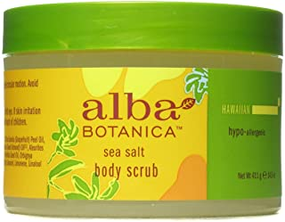 Alba Botanica Natural Hawaiian Body Scrub Sea salt, 14.5 oz (2 pack)