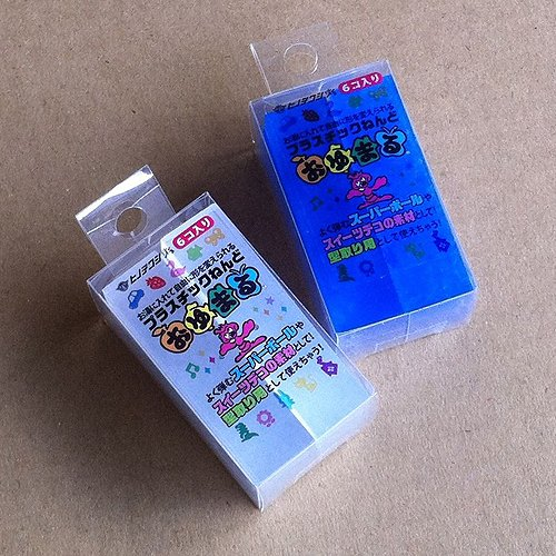 Hinodewashi Oyumaru monochromatic clear and blue set (each pack of 6) (japan import)