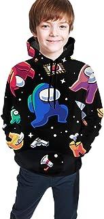 TinFrey Felpa con Cappuccio Among Us Felpa con Cappuccio per Costume con Stampa 3D per Bambini Adulti Felpa con Cappuccio Casual a Maniche Lunghe per Ragazze dei Ragazzi