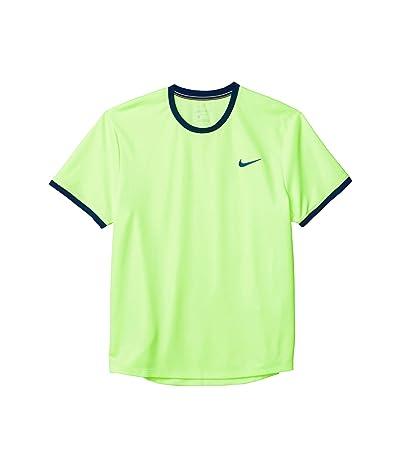 Nike NikeCourt Dri-FIT Short Sleeve Tennis Top (Ghost Green/Obsidian/Obsidian) Men